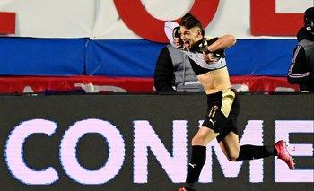 Valentín Rodríguez celebra su golazo ante Nacional