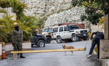 La entrada al domicilio del fallecido presidente haitiano Jovenel Moïse, en Puerto Príncipe