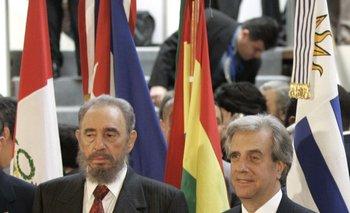 Fidel Castro junto a Taberé Vázquez