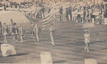 Desfile inaugural, la delegación de Uruguay en los Juegos Olímpicos de 1972