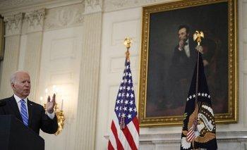 El presidente de Estados Unidos, Joe Biden, durante un discurso en la Casa Blanca
