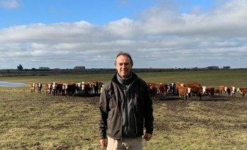 Jaime Mesa en su establecimiento agropecuario, ubicado en Polanco del Yi.