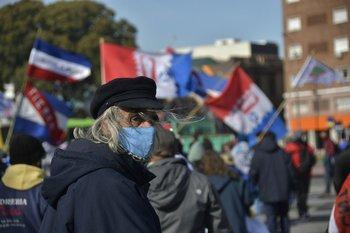 Movilización del Sindicato de Trabajadores de la Industria Química