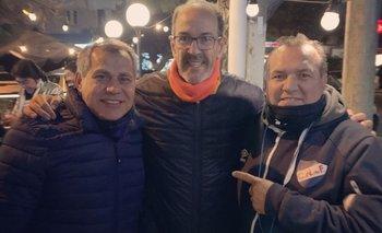 Ruben Paz, Hugo De León y Ruben Sosa juntos, como cuando jugaban por la celeste