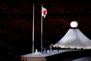 Izado de la bandera de Japón