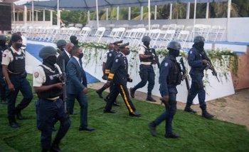 El funeral se celebró en medio de un fuerte despliegue de seguridad