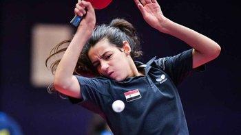 Henda Zaza es campeona en tenis de mesa