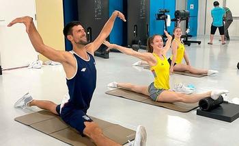 El entrenamiento de Djokovic