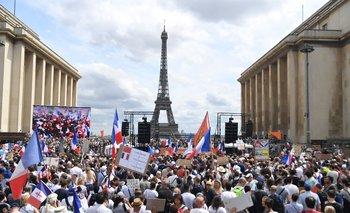 Las protestas en Francia se dieron a raíz de las últimas medidas sanitarias