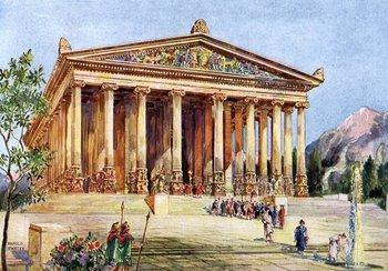 """El templo de Artemisa, Éfeso. Ilustración de """"Maravillas del pasado"""", 1933-1934."""