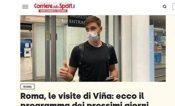 Viña en la web de Corriere dello Sport