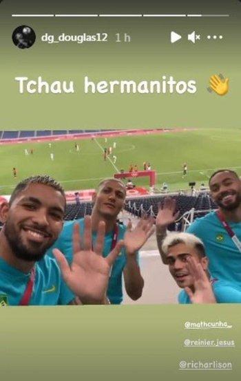 Douglas Costa, Richarlison, Reinier y Matheus Cunha se burlaron de la eliminación de Argentina en futbol en los Juegos Olímpicos de Tokyo 2020