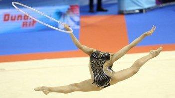 Muchas veces la flexibilidad de las gimnastas causan sorpresas.