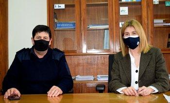 Willard González, director de Seguridad Rural, y Fernanda Maldonado, directora general del MGAP