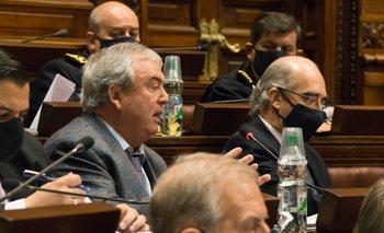 Heber durante la discusión de la Rendición de Cuentas