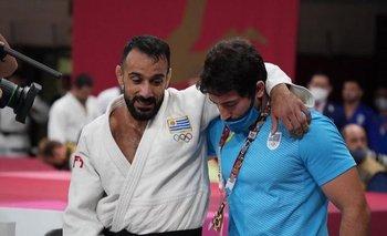 Aprahamian y su entrenador