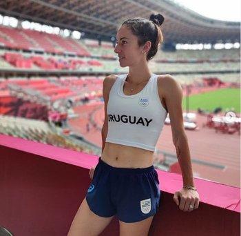 Pía en el Estadio Olímpico de Tokio