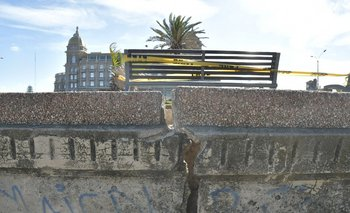 Nuevo derrumbe en la rambla montevideana, esta vez frente al Hotel Casino Carrasco