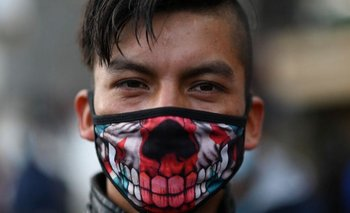 Los manifestantes marcharon a pesar de las preocupaciones por la pandemia.