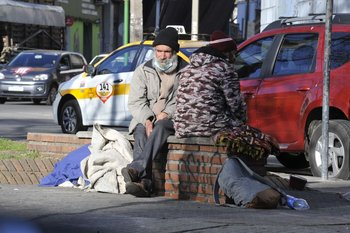 Se registró un aumento del 16% de personas que viven en la calle