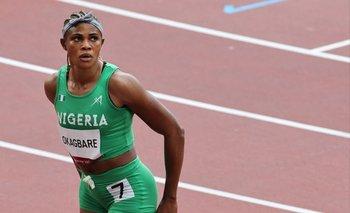Blessing Okagbare se quedó sin los 100 metros el mismo día de la final