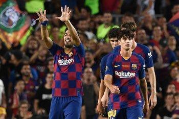 El primer festejo de Suárez en la temporada 2019/20