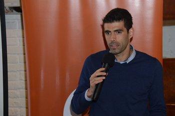 Pablo Gardiol en el lanzamiento de la Half Maratón 2019