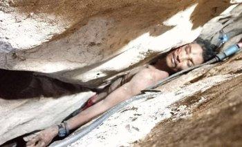 Así estuvo atrapad Sum Bora por casi cuatro días en una cueva de Camboya.