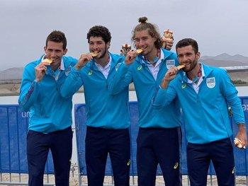 Leeandro Salvagno, Marcos Sarraute, Martín González y Bruno Cetraro