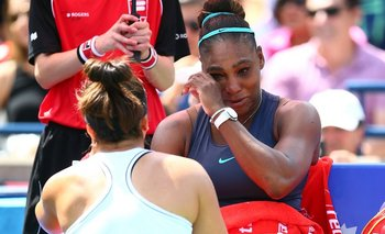 Bianca Andreescu fue a contener a Serena Williams