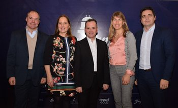 Nelson Coira, Rocio Vilaró, Horacio Urrutia, Lucia Barbosa e Ignacio Rossi