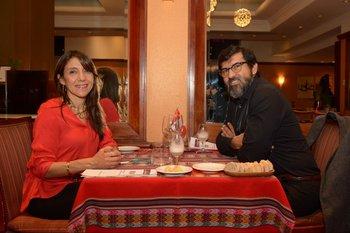 Elizabeth Reyes y Pablo Cisneros