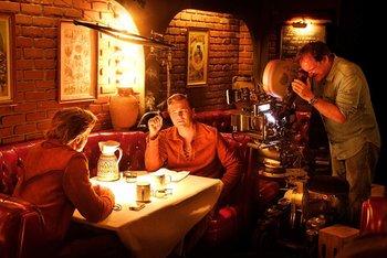 Tarantino, DiCaprio y Pitt se prenden fuego en un Hollywood
