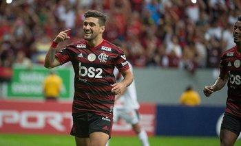 Giorgian De Arrascaeta marcó en la victoria ante Palmeiras