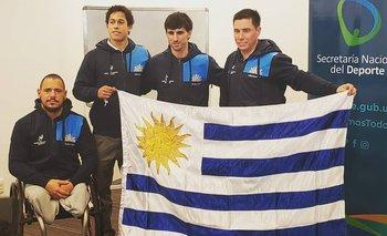 Parte de la delegación uruguaya en los Parapanamericanos de Lima 2019