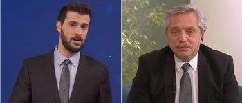 Diego Leuco y Alberto Fernández se enfrentaron en vivo en un informativo