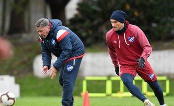 Bergessio entrena junto al profe Moreno