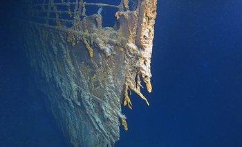 Después de más de 100 años bajo el mar, la proa del Titanic aún es identificable.