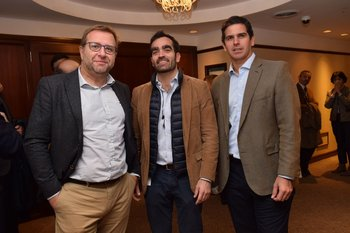Marcelo Jorcin, Ezequiel Aleman y James Whitelaw