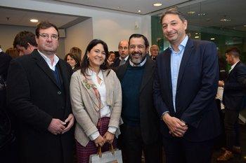 Jorge Cuneo, Silvia Gularte, Javier Rodríguez y Alejandro Fresengo