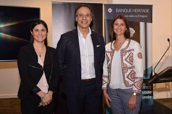 María Vazquez, Enrique Baliño y Ana Inés Maranges