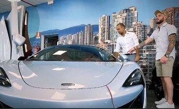 Nandez y su nuevo auto