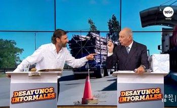César Vega (PERI) y Gustavo Salle (Partido Verde Animalista) debatieron este jueves en Desayunos informales