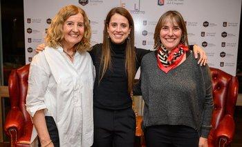Socorro Reyes, María Noel Riccetto y Liliana Liudice