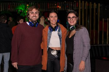 Mathias Galindes, Manuela Mondelli y Valentina Laulhe