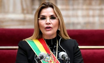La presidenta interina de Bolivia, Jeanine Añez