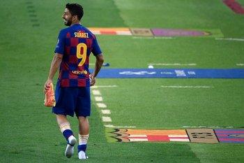 Suárez tras el triunfo ante Napoli