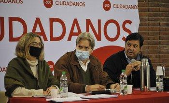 Nibia Reich, Ope Pasquet y Adrian Peña, del sector Ciudadanos del Partido Colorado