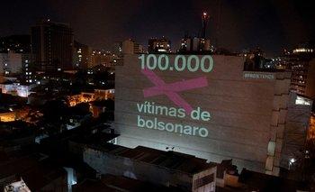 Una proyección que recuerda a las 100.000 víctimas de coronavirus de Brasil