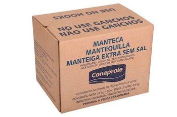 Manteca en bloques para la exportación.